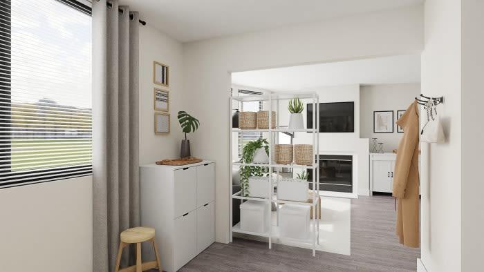 tiny minimalist studio apartment