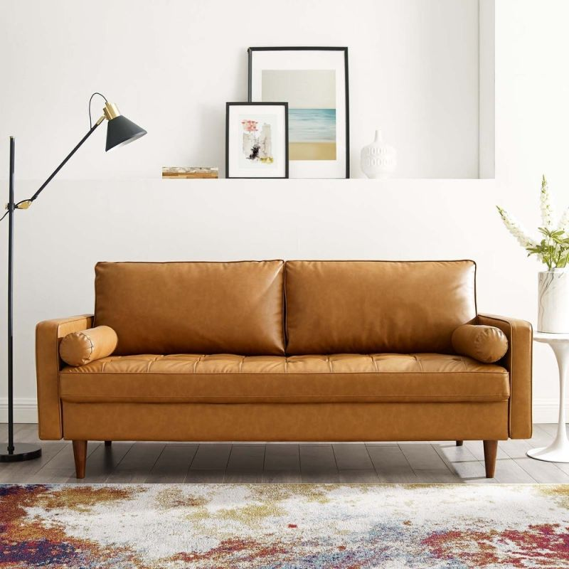 Overstock faux leather sofa