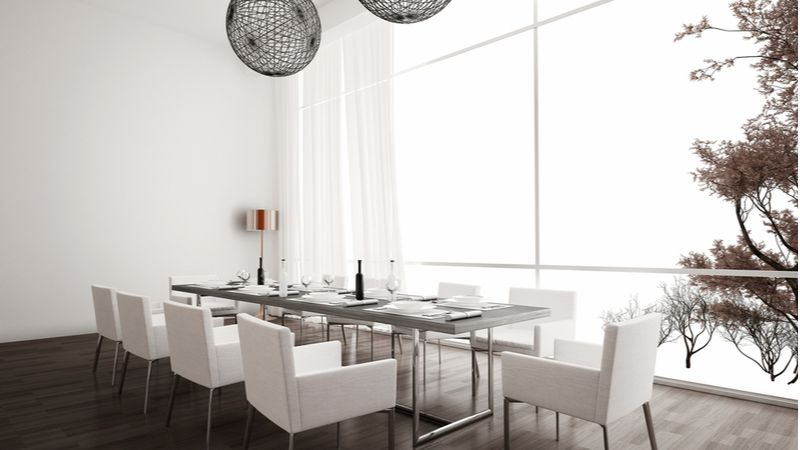 Modern simple and chic dining room