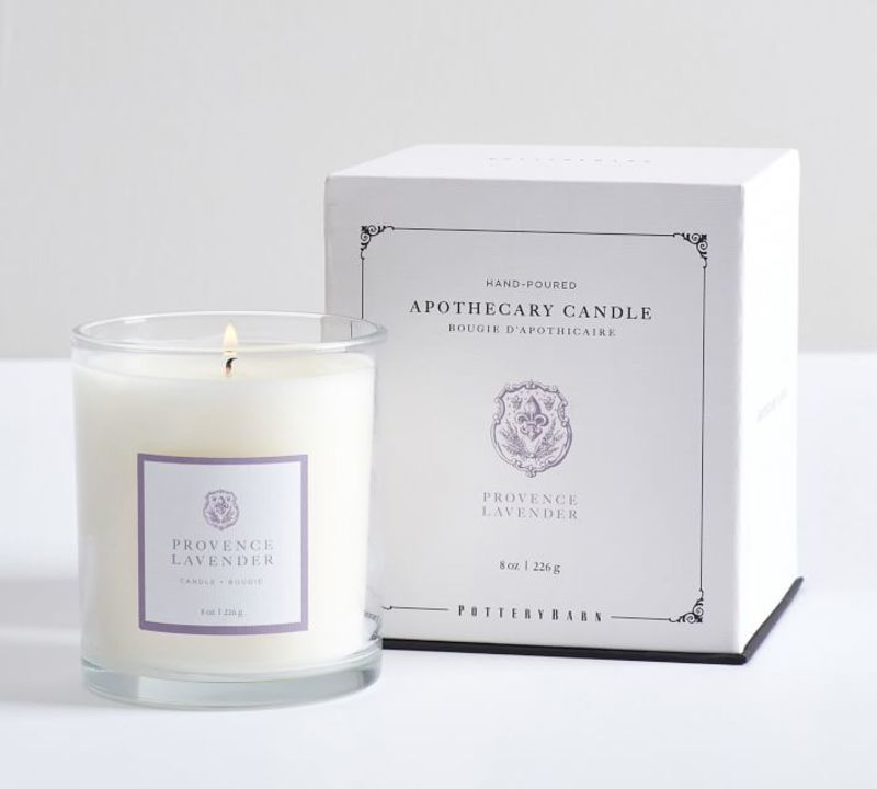 Pottery Barn Apothecary Lavender Candle