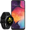 Samsung Galaxy A50 mit Samsung Galaxy Watch Active