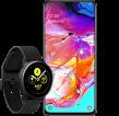 Samsung Galaxy A70 mit Samsung Galaxy Watch Active