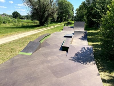 Outdoor skatepark