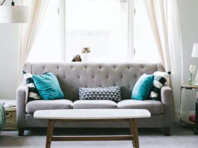 Three seat sofa cleaning