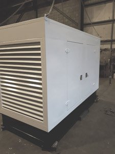 Completed sprayed generator container