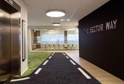 rehabilitere og modernisere eksisterende kontorlokale – Sector Alarm Hovedkontor