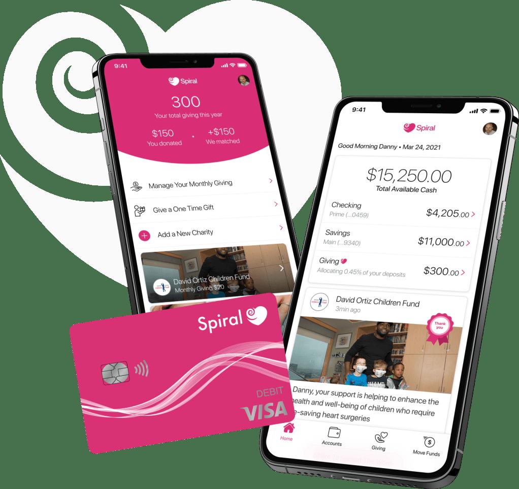 Spiral banking app