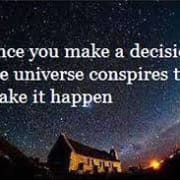 What are you communicating to the universe?