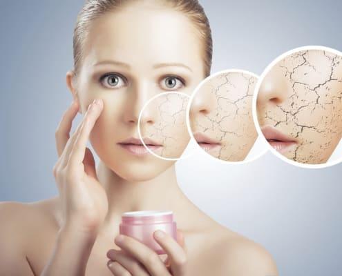 درمان پوست خشک بصورت خانگی