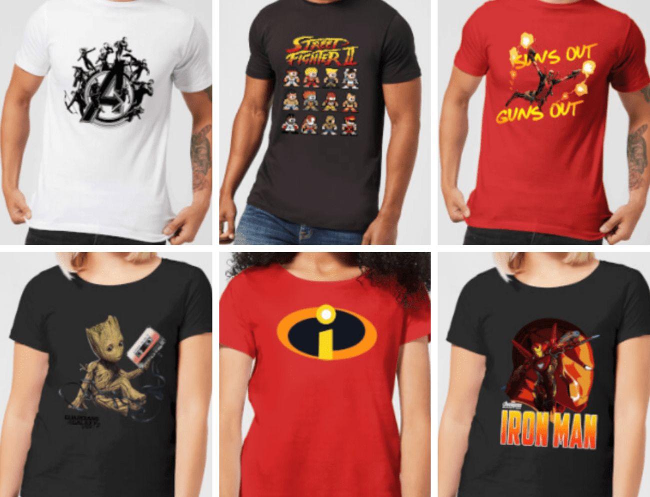 Deux t-shirts geeks à seulement 28€ chez la boutique geek Zavvi
