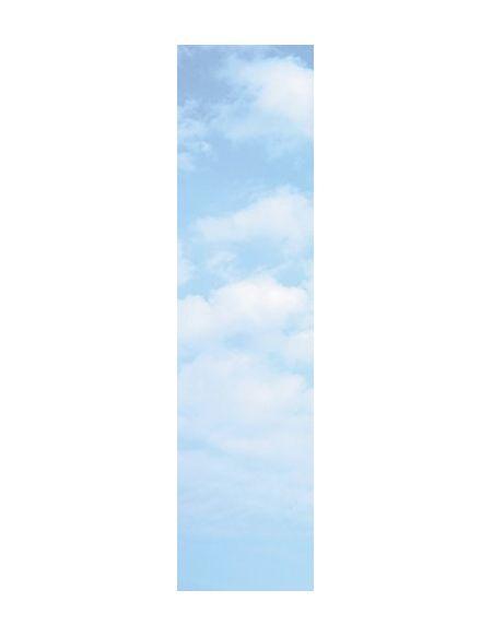 Scenolia Stickers géant papier peint déco BLEU CIEL 60 x 240 cm | Déco murale Qualité HD