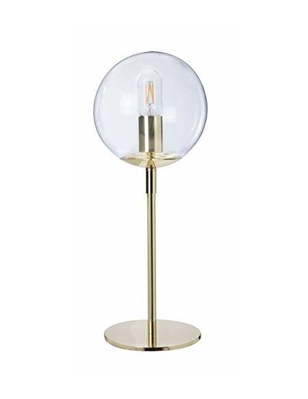 Luminaire Globus,lampe décorative, métal/verre, 15 W, or/laiton, ø 19 x H 52 cm