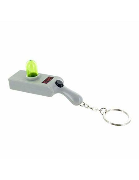 Paladone Porte-clés fusil Rick & Morty avec lampe torche - Lumière fantaisie qui crée un mini portail interdimensionnel vert
