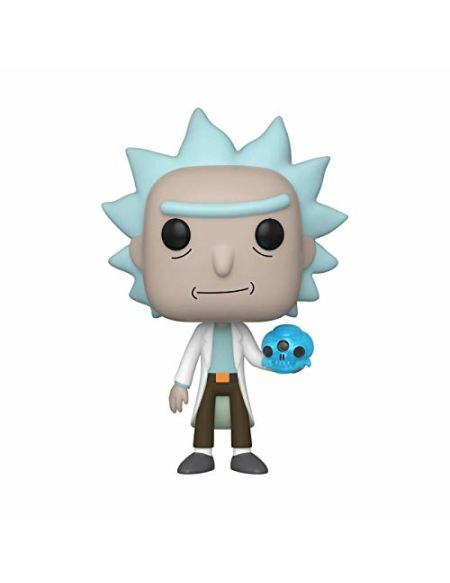 Funko- Pop Animation: Rick & Morty-Rick w/Crystal Skull and Morty Collectible Toy, 45438, Multicolour