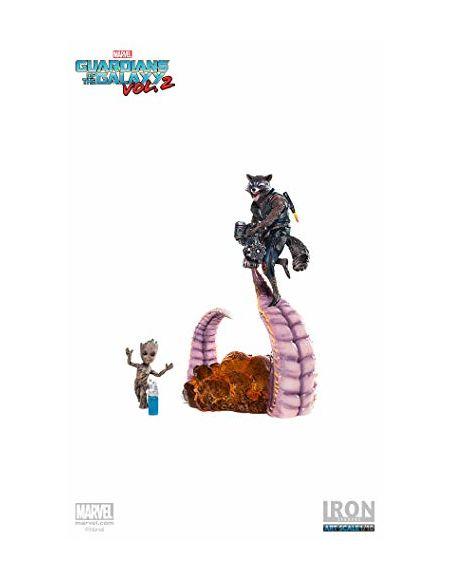 Iron Studios 1: 10Groot & Rocket BDS Art Scale Statue-Is300751
