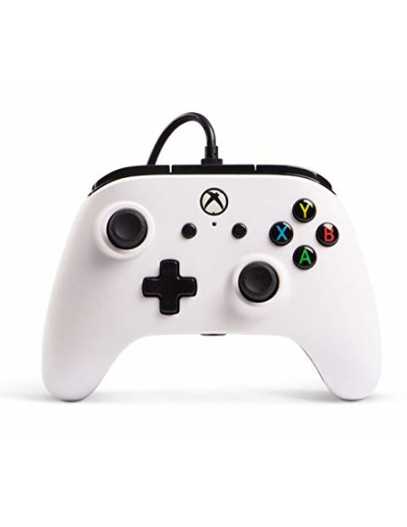 PowerA Manette filaire sous licence officielle de Microsoft et compatible avec Xbox Onexbox One Sxbox One X et Windows 10 - Blanc