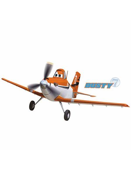 Thedecofactory 22890 Autocollants muraux Disney Planes Dusty 1 Feuille avec 13 éléments, Plastique, Multicolore, 50x50x1 cm