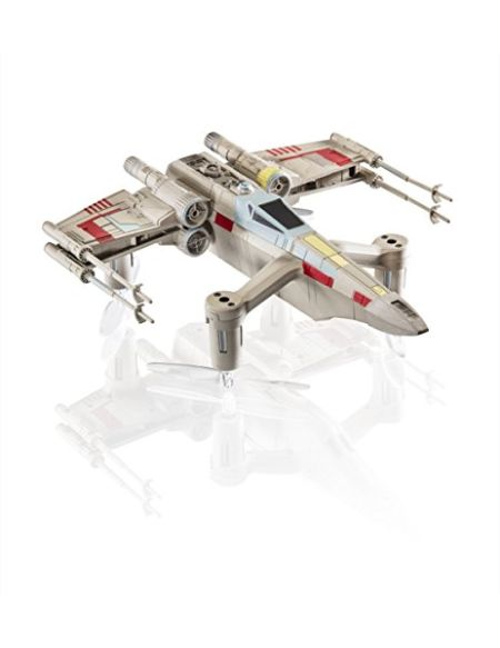 Propel- Collectors Edition Wars Battling Quadcopter: T-65 X Wing Star Fighter Drone WARS-T-65, SW-1977-CX, Gris/Blanc/Bleu, Taille Unique