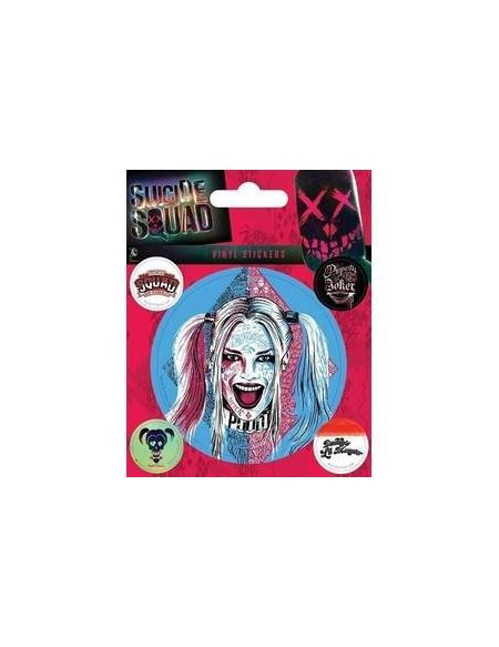 Pyramid International Suicide Squad (Harley Quinn) Stickers muraux en Vinyle, Papier, Multicolore, 10x 12.5x 1.3cm