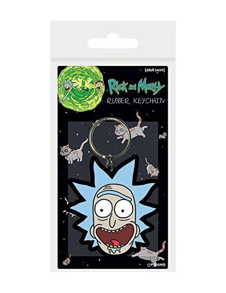 Cartoon Network Morty-rick Crazy Smile en caoutchouc Porte-clés, Multicolore, 4.5x 6cm