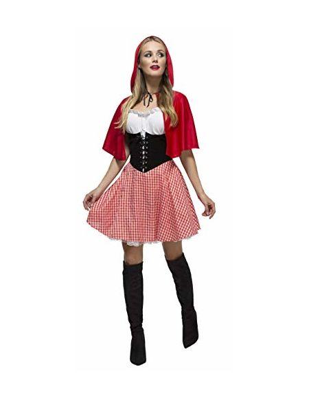 Smiffys Déguisement Femme Petit Chaperon Rouge, Robe et Cape à Capuche, Once Upon a Time, Fever, Taille 32-34, 38490