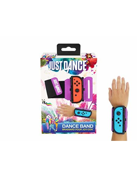 Subsonic Just Dance 2019 - Dance Band - Brassard pour manette JoyCon Nintendo Switch - Bracelet élastique réglable avec emplacement pour Joy-Cons gauche et droit