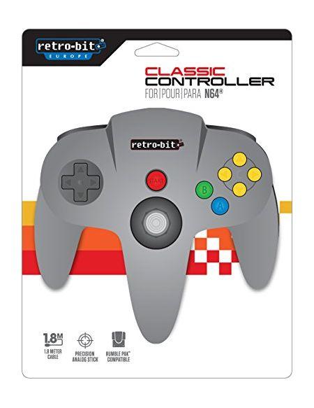 Retro-Bit N64 Class Manette - gris