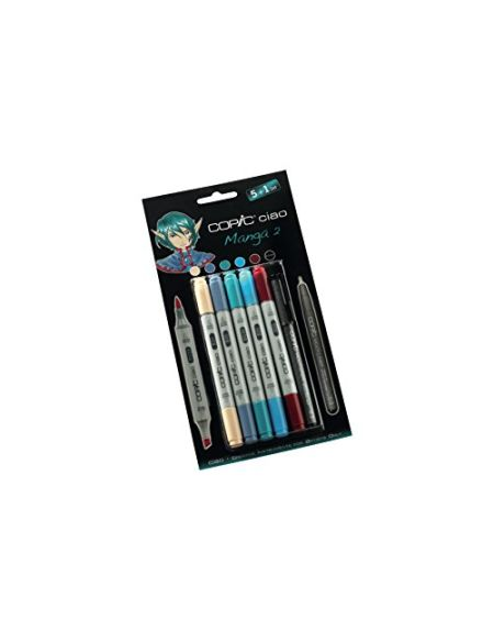 Copic Ciao Ensemble comprenant Manga 2 Marqueur (Lot de 5)/ Stylo multiliner