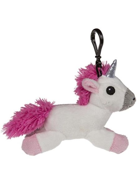 Out of the blue Licorne en Peluche avec Porte Mousqueton & Son, Piles Inclus, env. 17 cm