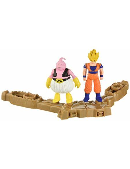 Bandai - Dragon Ball Super - Set De Combat Mini-battle - 2 figurines + 2 socles - Modèle aléatoire - 35940
