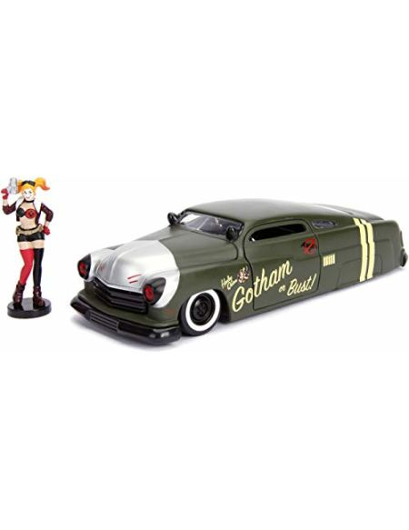 Jada DC Comics Bombshells Harley Quinn & 1951 Mercury Die-cast Car, 1: 24Scale Vehicle & 2.75 Collectible Figurine