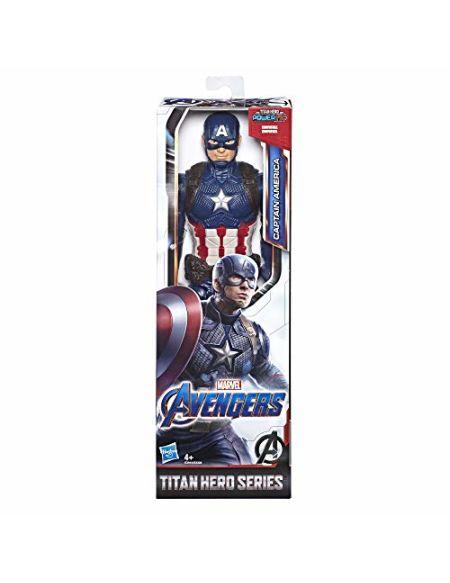 Marvel Avengers - Figurine Marvel Avengers Endgame Titan - Captain America - 30 cm - Jouet Avengers