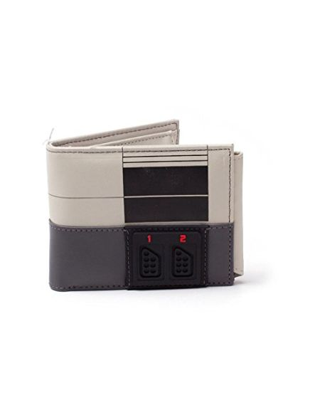 Nintendo NINTENDO NES Console Bi-Fold Wallet, Multi-Colour (MW270709NTN) Porte-Monnaie, 16 cm, Gris (Grey)
