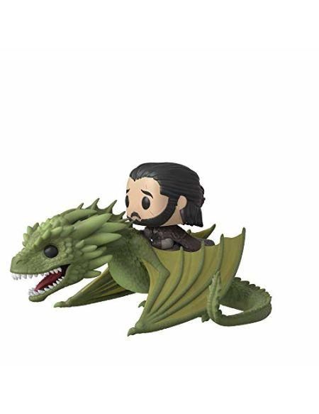 Figurine Pop! Ride - Jon Snow sur Rhaegal - Game of Thrones