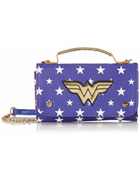 Bioworld Merchandising femme Mini Sac A Main Dc Comics Wonder Woman Pochette Bleu (Bleu)