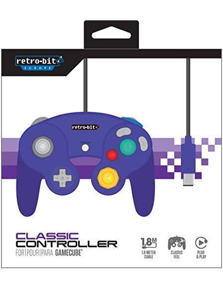 Retro-Bit Gamecube Class Manette - pourpre
