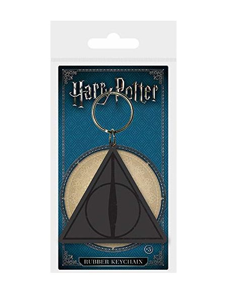 Pyramid International Harry Potter Deathly Hallows Logo en Caoutchouc Porte-clés, Multicolore, 4.5x 6cm