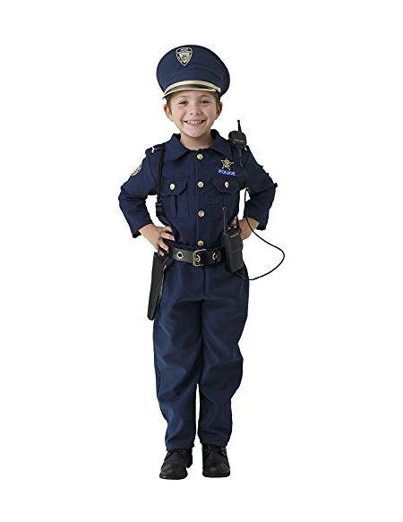 Dress Up America Deluxe Costume de déguisement de police - Comprend Chemise, Pantalon, Chapeau, Ceinture, Sifflet et Étui de pistolet