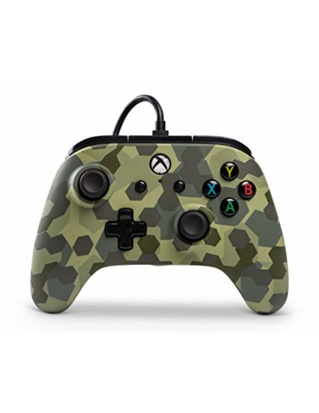PowerA Manette filaire sous licence officielle de Microsoft et compatible avec Xbox Onexbox One Sxbox One X et Windows 10 - Deep Jungle Camo