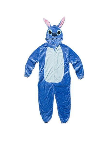 Katara 1744 - Grenouillère Combinaison Adultes Tenue de Nuit Pyjama Kigurumi - Taille XL 175-185cm Lilo & Stitch Bleu