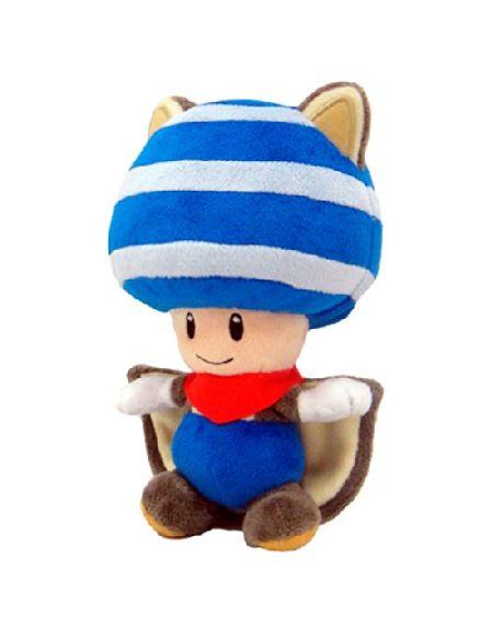 Figurine 'Nintendo' - Peluche Toad écureuil volant - 20cm - bleu