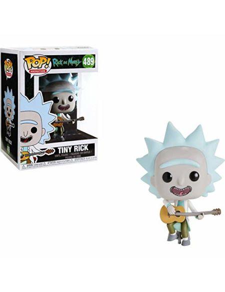 Funko- Figurines Pop Vinyl: Rick & Morty: Tiny Rick w/Guitar (Exc) Collectible Figure, 34215, Multicolour
