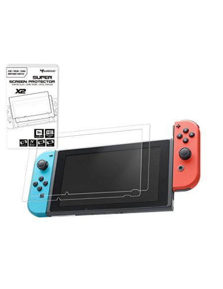 SUBSONIC protections pour écran en verre trempé pour console Nintendo Switch - Kit de 2 films premiums ultra résistants en verre trempé avec revêtement oléophobe anti chocs et anti rayures Pack de 2