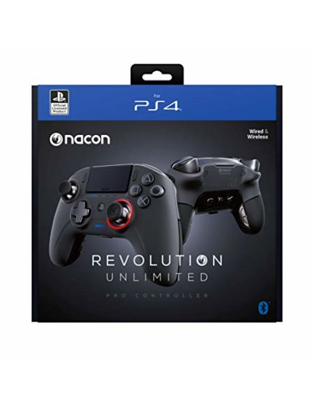 Nacon Revolution Unlimited Manette de Jeu PC,Playstation 4 Noir - Accessoires de Jeux vidéo (Manette de Jeu, PC,Playstation 4, Analogique/Numérique, D-Pad, avec Fil &sans Fil, Bluetooth/USB)