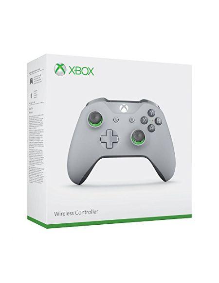 Manette Xbox One Microsoft Sans Fil Grise et Verte