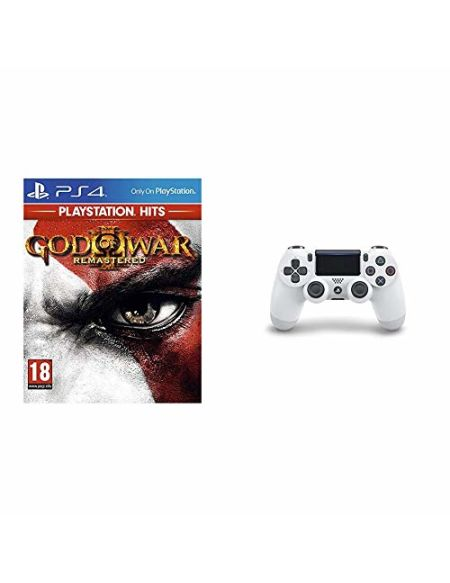 God of War 3 Remastered HITS + Manette Dual Shock 4 V2 pour PS4 - Blanc