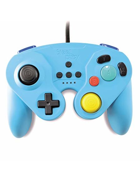 Manette Nintendo Switch filaire Steelplay Neo Retro Bleu