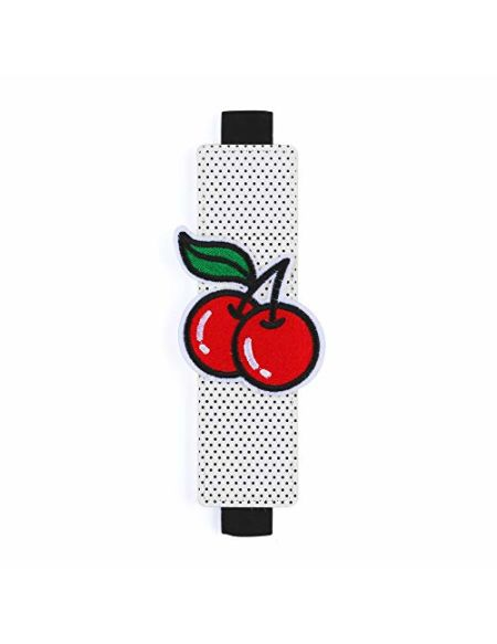 Pen Pouch par Moutarde | Petite trousse | Mini stylo support | autour de votre ordinateur portable | Fun rétro Motif cerises