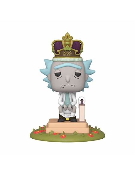 Funko- Pop Animation: Rick & Morty-King of $#+ w/Sound Rick and Morty Collectible Toy, 45437, Multicolour