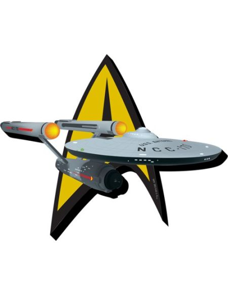 Aquarius Star Trek Ship & Insignia Funky Chunky Magnet